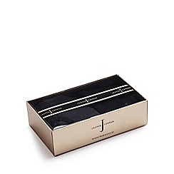 J by Jasper Conran - Black striped keyhole trunks and socks in a gift box