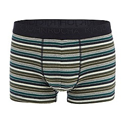 RJR.John Rocha - Green cotton stretch hipster trunks