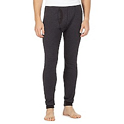 Maine New England - Black ribbed thermal trousers