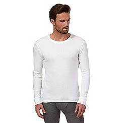 Maine New England - White brushed thermal long sleeved top