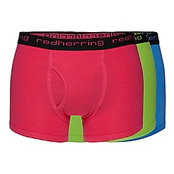 Red Herring - Pack of three bright pink, green and blue keyhole trunks