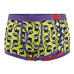 Red Herring - Pack of three assorted monkey and frog print trunks