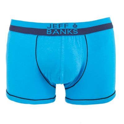 Blue Piped Hipster Trunks