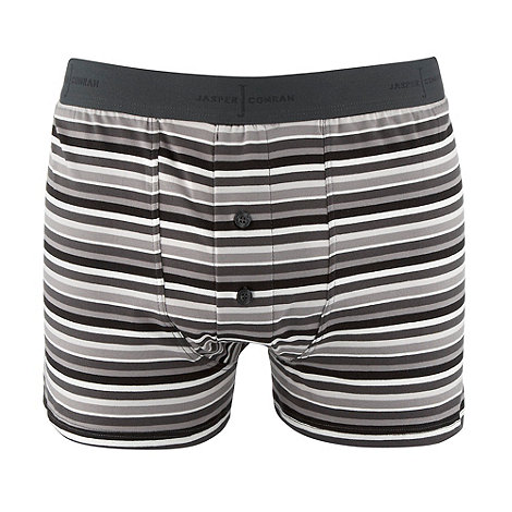 J by Jasper Conran - Designer light grey mono stripe boxers