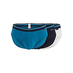 Sloggi - Pack of three turquoise midi briefs