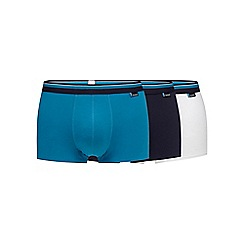 Sloggi - Pack of three turquoise hipster trunks