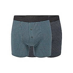 RJR.John Rocha - Pack of two dark grey patterned boxers