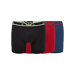 Emporio Armani - Pack of three red cotton stretch boxer briefs