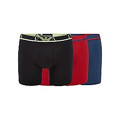 Emporio Armani - Pack of three red cotton stretch boxer briefs
