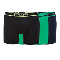 Emporio Armani - Pack of three green cotton stretch boxer briefs