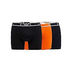 Emporio Armani - Pack of three orange boxer briefs