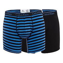 Calvin Klein Underwear - Pack of two black and blue striped print boxer briefs