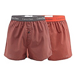 Calvin Klein Underwear - Pack of two red slim printed boxers