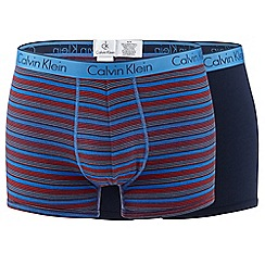 Calvin Klein Underwear - Pack of two blue striped trunks