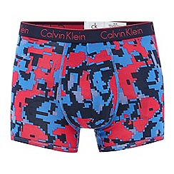 Calvin Klein Underwear - Blue and pink block print trunks