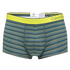 Calvin Klein Underwear - Grey fine striped print trunks