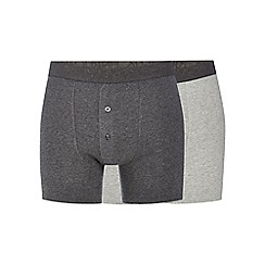 RJR.John Rocha - Big and tall designer pack of two grey boxer shorts