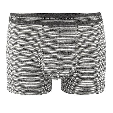 RJR.John Rocha - Designer grey fine stripe hipster trunks