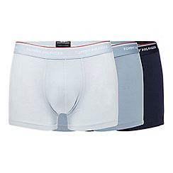 Tommy Hilfiger - Pack of three light blue hipster trunks