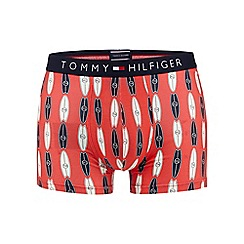 Tommy Hilfiger - Red surfboard print hipster trunks