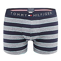 Tommy Hilfiger - Navy striped print trunks