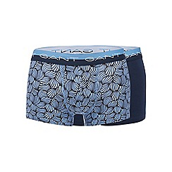 Gant - Pack of two blue print cotton stretch trunks