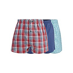 Mantaray - Big and tall pack of three turquoise surfboard print boxer shorts