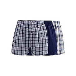 The Collection - Pack of three purple checked boxers