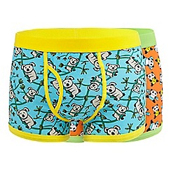 Red Herring - Pack of two orange print trunks
