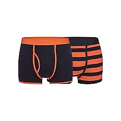 J by Jasper Conran - Pack of two navy and orange striped print keyhole trunks
