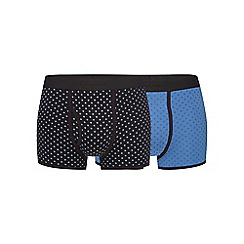J by Jasper Conran - Pack of two blue geometric print trunks