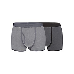 J by Jasper Conran - Big and tall pack of two grey striped trunks