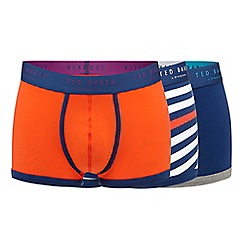 Ted Baker - Pack of three orange striped trunks