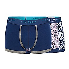 Ted Baker - Pack of three zig zag print trunks
