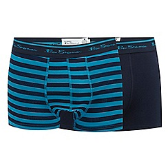Ben Sherman - Pack of two navy striped trunks