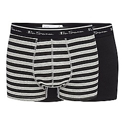 BEN SHERMAN - Pack of two black striped trunks
