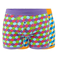 Red Herring - Pack of two assorted patterned boxers