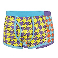 Red Herring - Pack of two turquoise print trunks