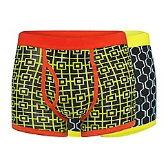 Red Herring - Pack of two geometric print trunks