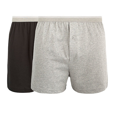 Thomas Nash - Pack of two grey and black boxer shorts