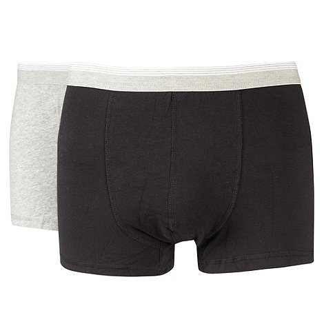 Thomas Nash - Pack of two black and grey hipster trunks