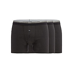 The Collection - Big and tall pack of three black button boxers