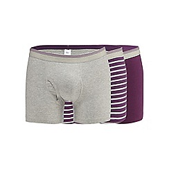 The Collection - Big and tall purple striped keyhole trunks