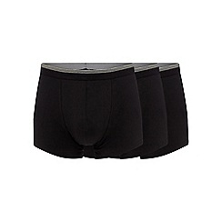 The Collection - Big and tall pack of three black hipster trunks