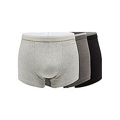 The Collection - Big and tall pack of three grey hipster trunks