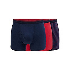 The Collection - Big and tall pack of three wine pinstripe trunks