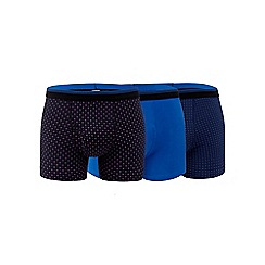 The Collection - Big and tall set of three cotton stretch trunks