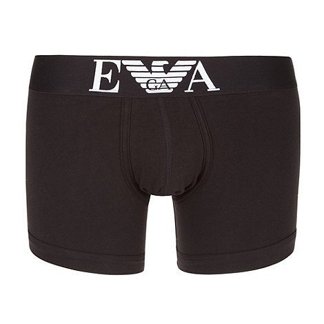 Emporio Armani - Black stretch cotton logo boxers