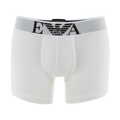 White Stretch Cotton Logo Boxer Briefs