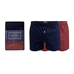 Tommy Hilfiger - Pack of two red and navy boxers in a gift box